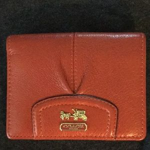 Coach Small Red Wallet